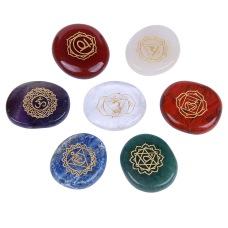 Chakra stones set plam crystals polished