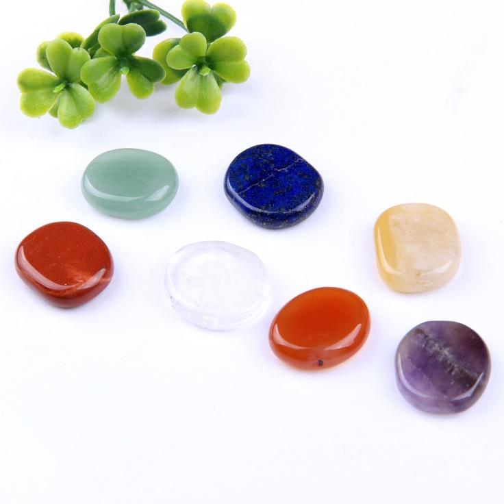 7 chakra stone palm crystals