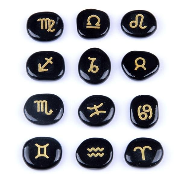 12 Zodiac Symbols And Birthstones Purelycrystals