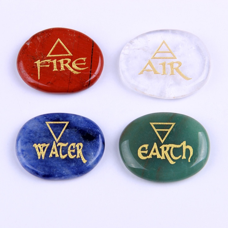 Classical Ancient Element Symbols Water Air Fire Earth Purelycrystals