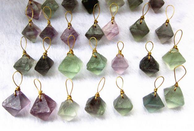 geometric fluorite stones